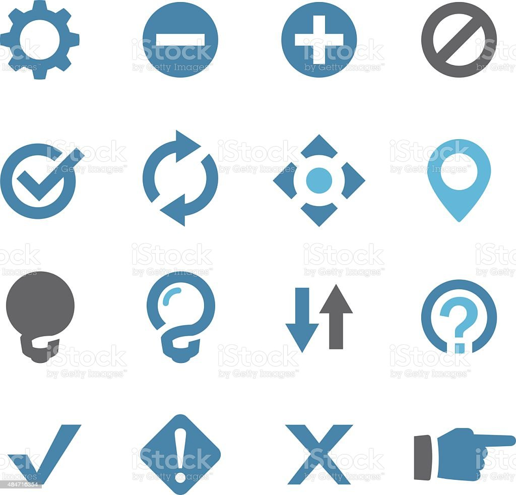 Web Button Icons - Conc Series vector art illustration