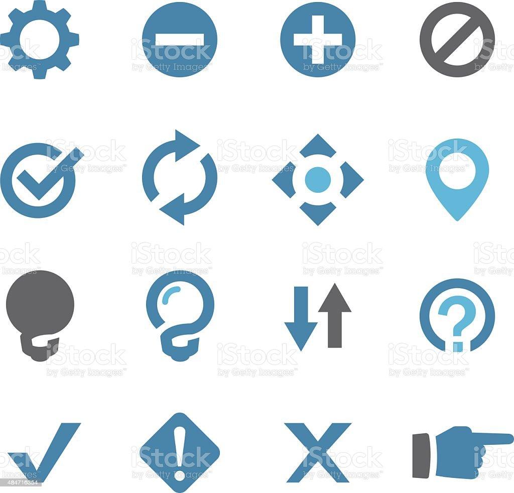 Web Button Icons - Conc Series vector art illustration