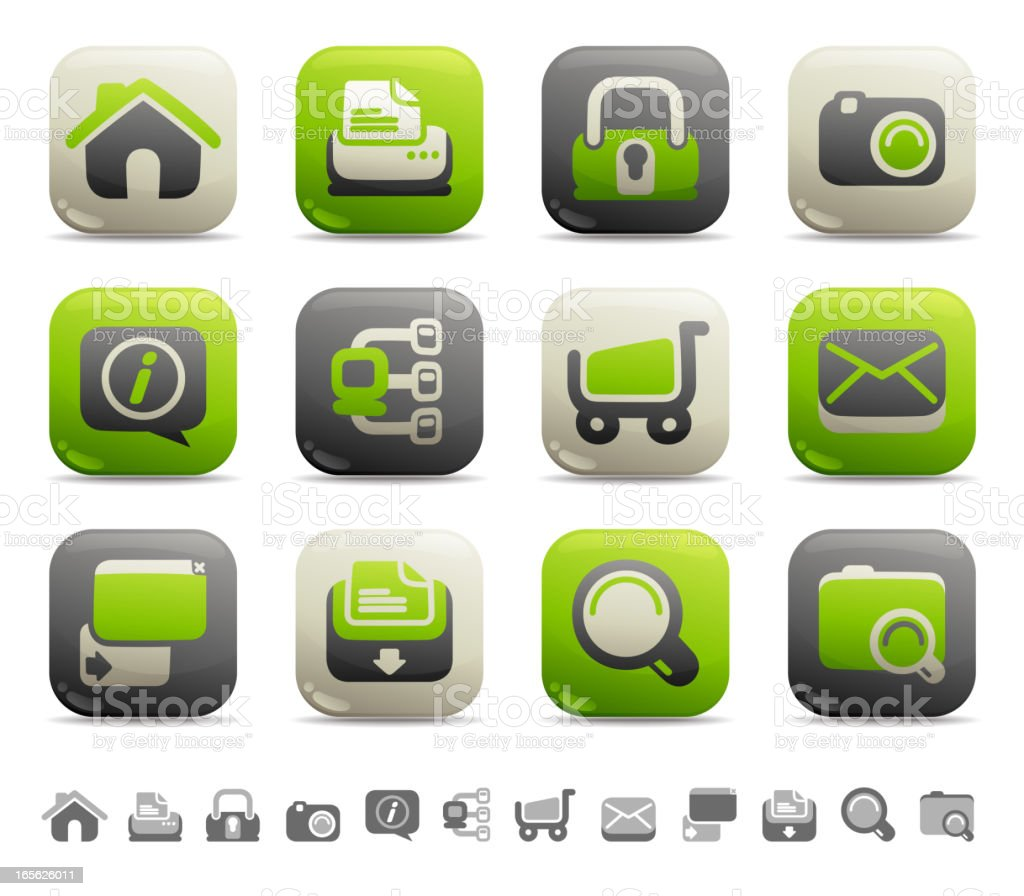 Web Button Icons - Internet royalty-free stock vector art