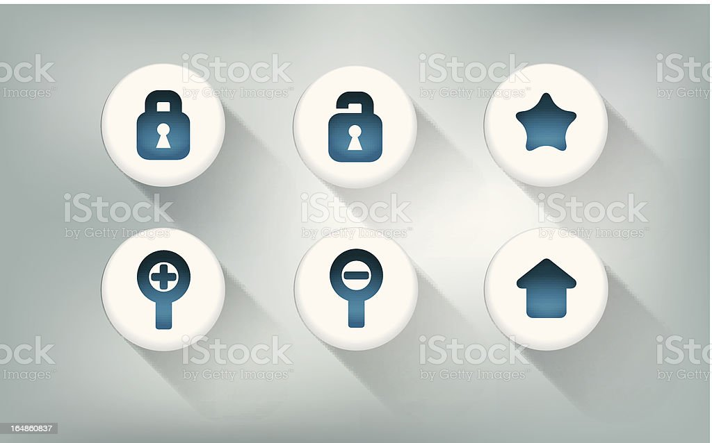 Web button icons set royalty-free stock vector art