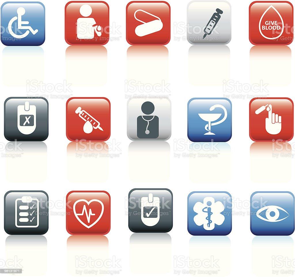 Web-Taste, die medizinische Lizenzfreies vektor illustration