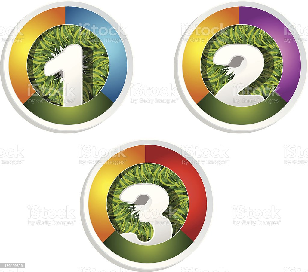 web  button set royalty-free stock vector art