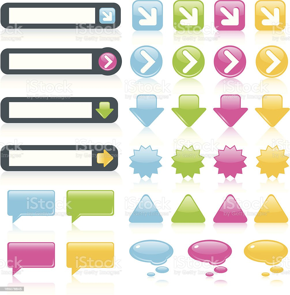 Web Buttons and Symbols royalty-free stock vector art