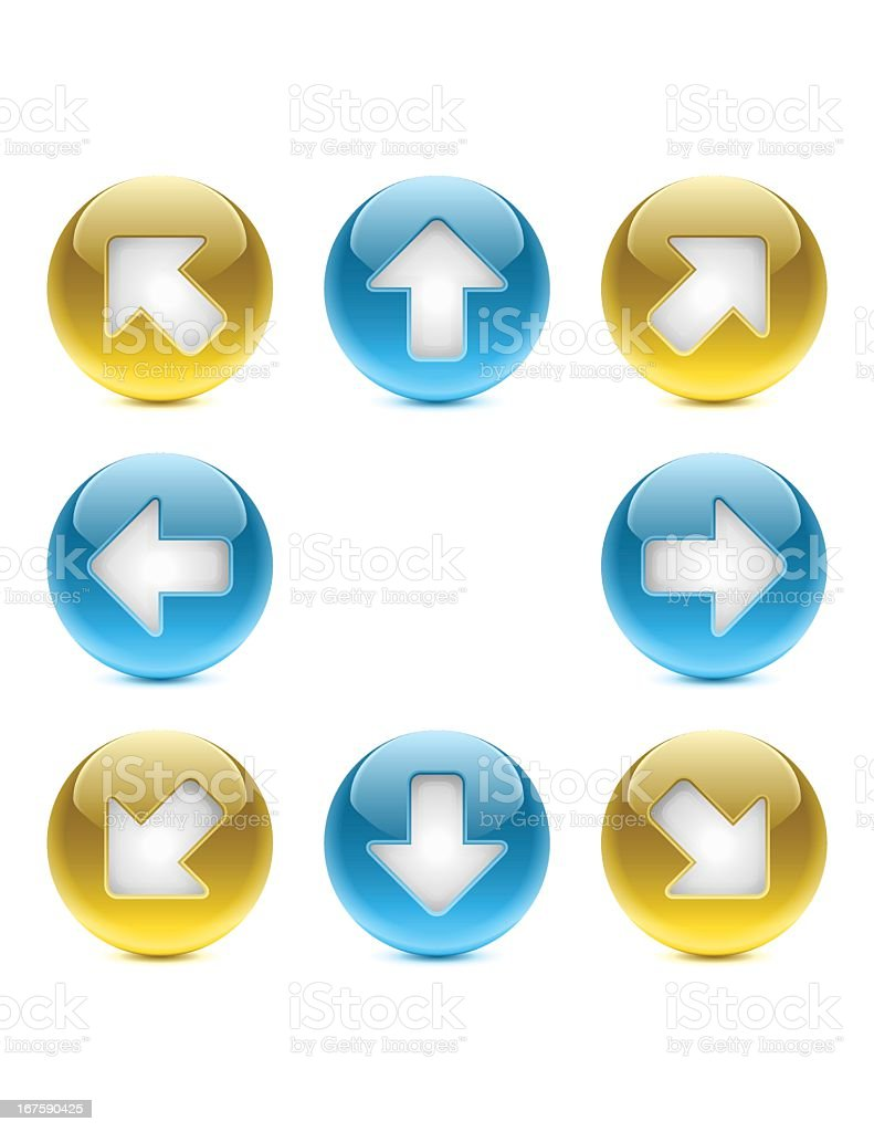Web Buttons | Arrows royalty-free stock vector art