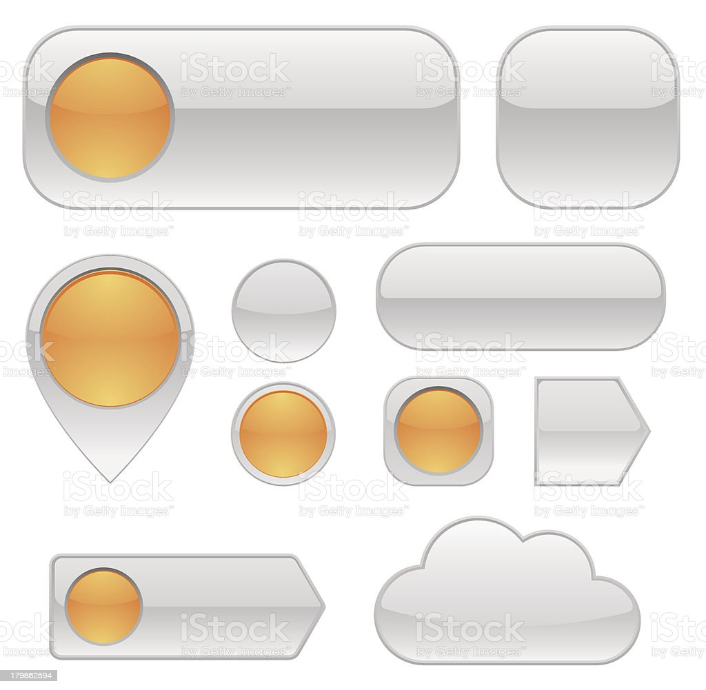 Web buttons -design elements royalty-free stock vector art