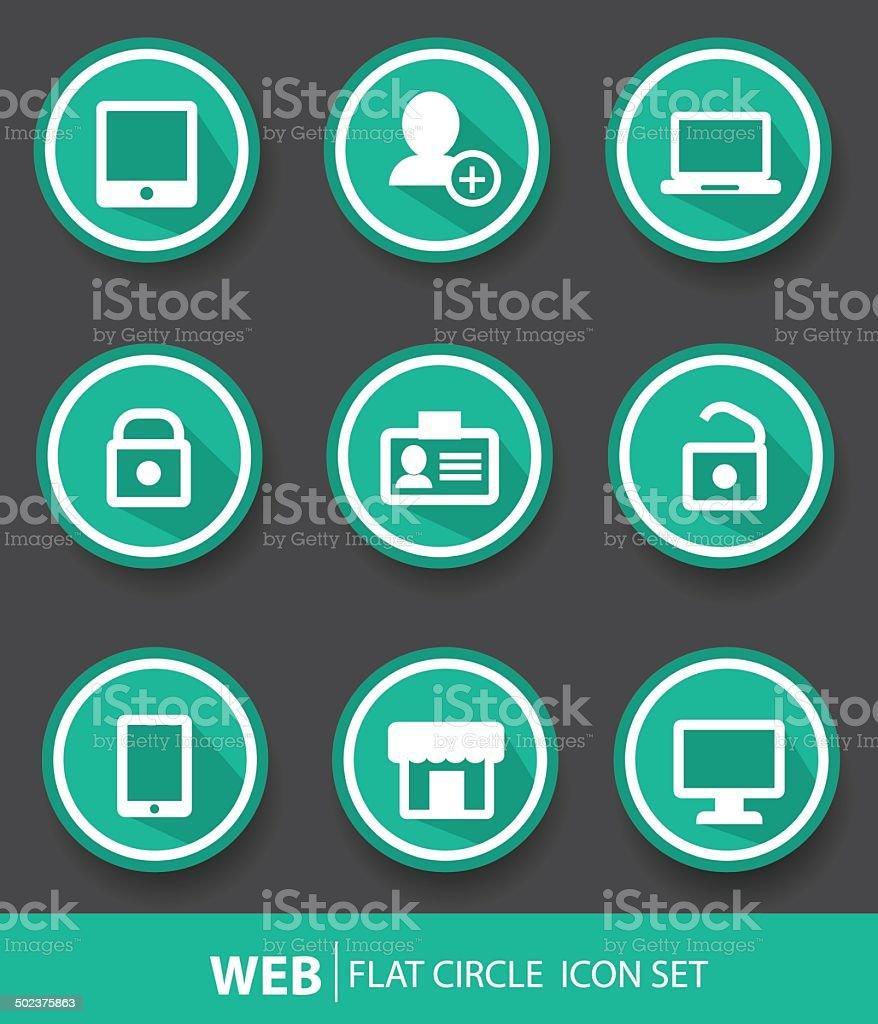 Web buttons,Green version,vector royalty-free stock vector art