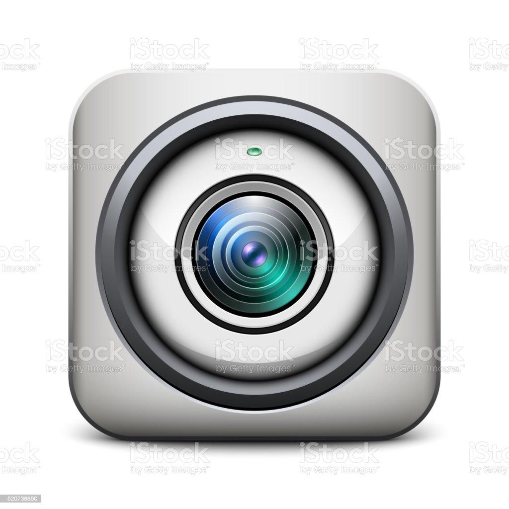 Web camera icon vector art illustration