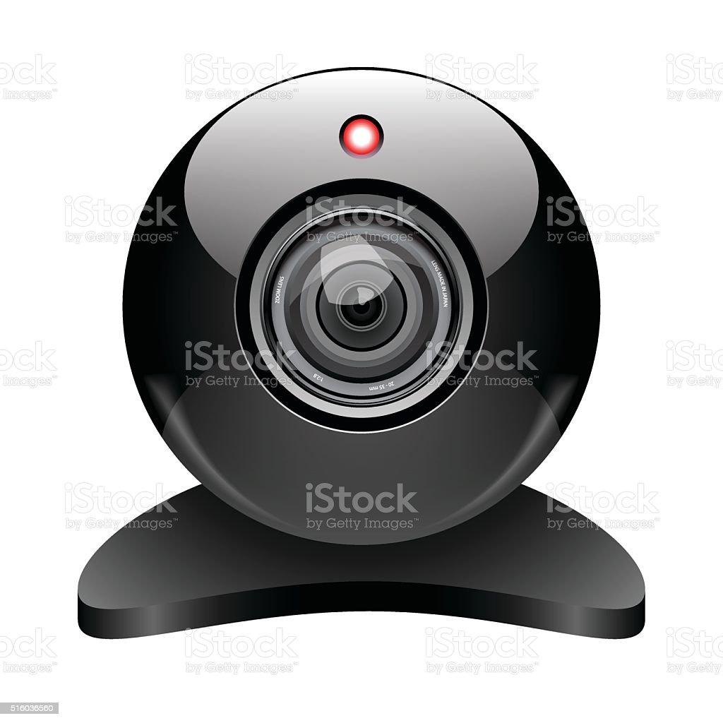 Web camera. Vector vector art illustration