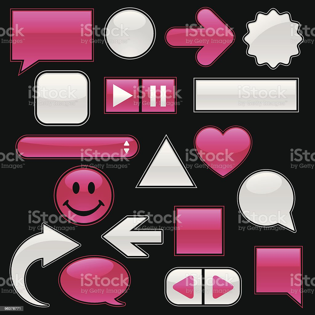 Web Collection - Raspberry & White royalty-free stock vector art