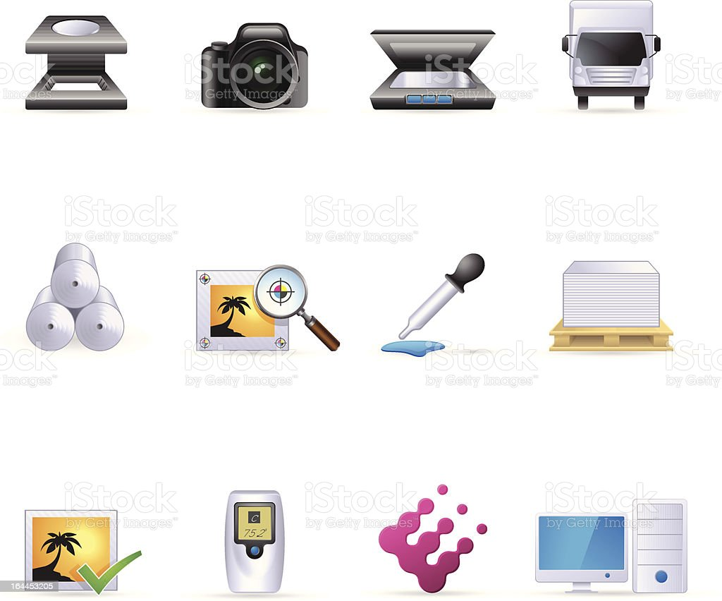 Web Color Icons - More Printing & Graphic Design royalty-free stock vector art