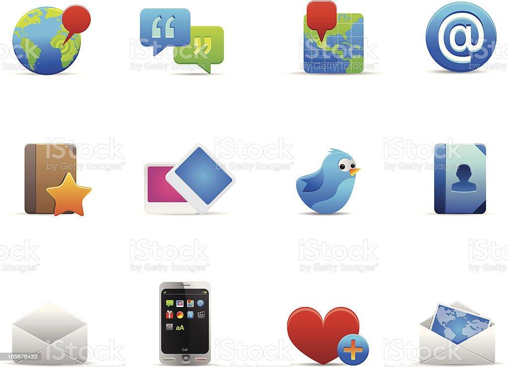 Web communication icon set royalty-free stock vector art