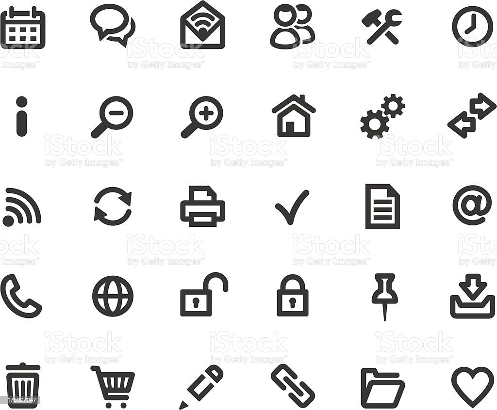 Web Computer icons vector art illustration