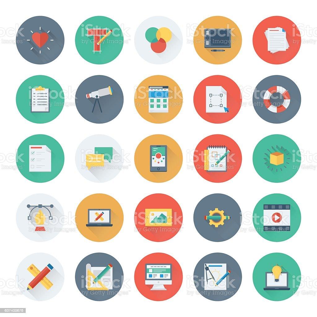 Web Design and Development Vector Icons 1 vector art illustration