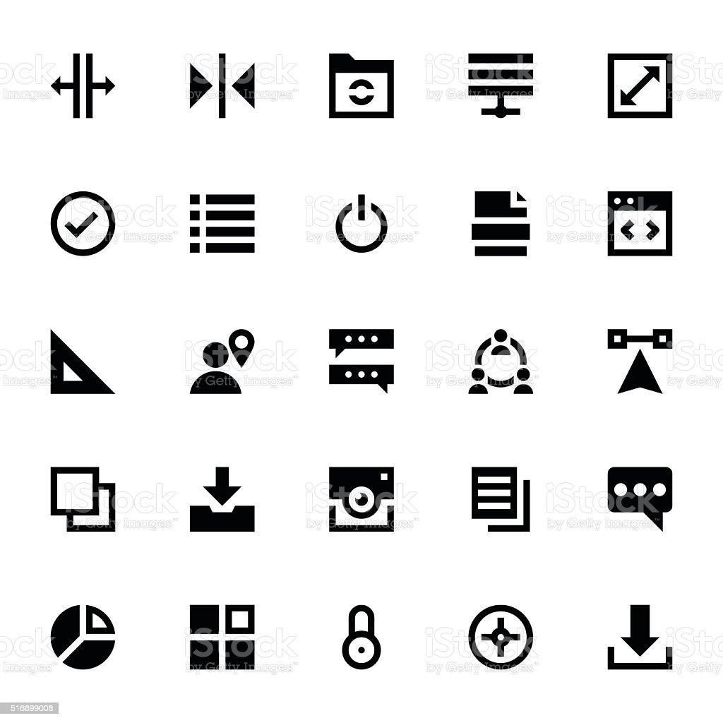 Web Design and Development Vector Icons 7 vector art illustration