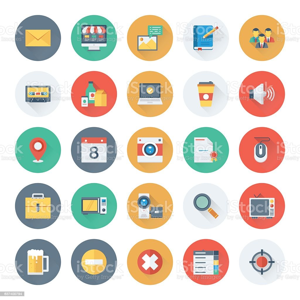 Web Design and Development Vector Icons 8 vector art illustration
