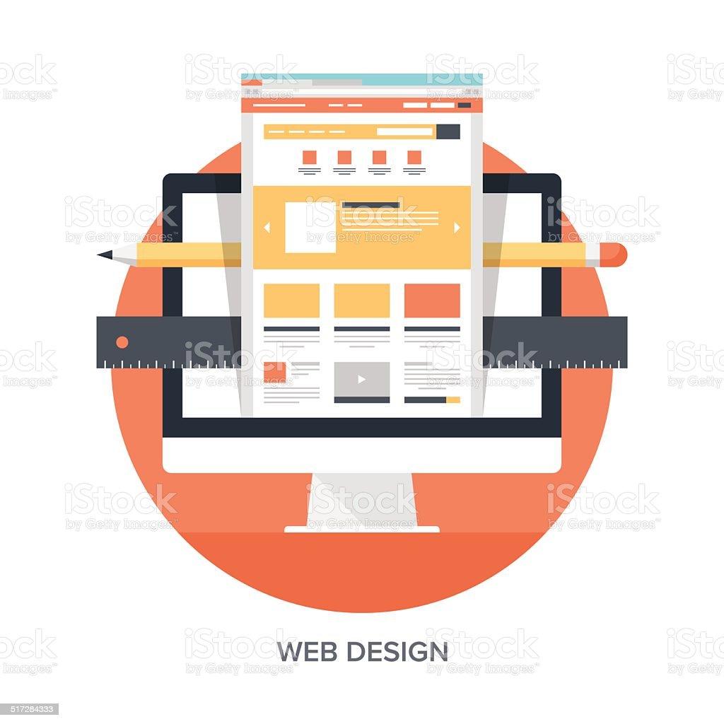 Web Design and Development vector art illustration