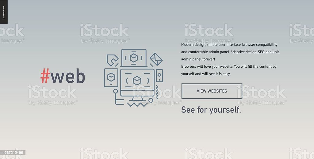 Web design block website template vector art illustration