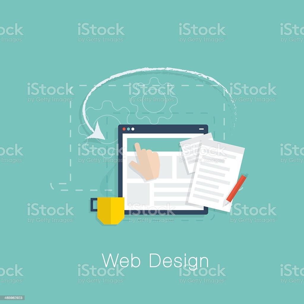 Cool colors web design - Cool Colors Web Design Web Design Development Project Vector Concept With Flat Cool Colors Royalty