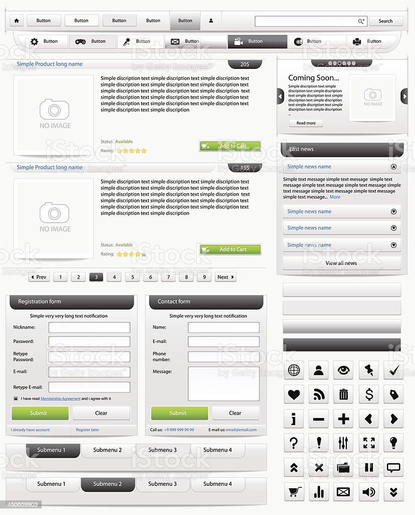 Web design elements set. Online shop 2. Vector illustration royalty-free stock vector art