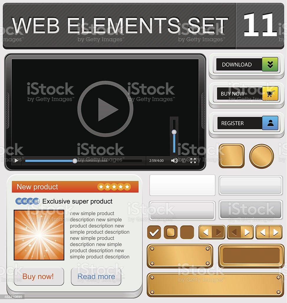 Веб-дизайн элементов набор векторная иллюстрация