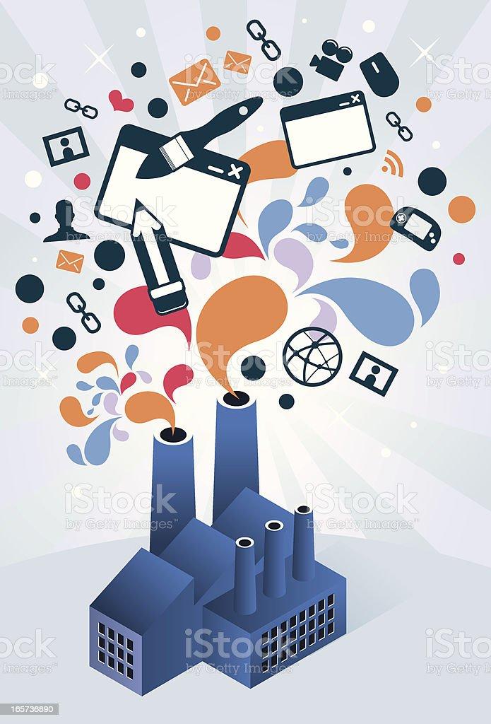 Web design factory royalty-free stock vector art