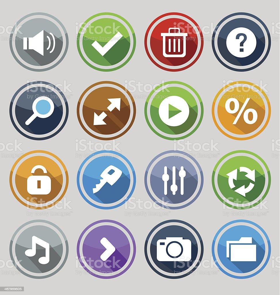 Веб-дизайн круглые кнопки набора 2 векторная иллюстрация