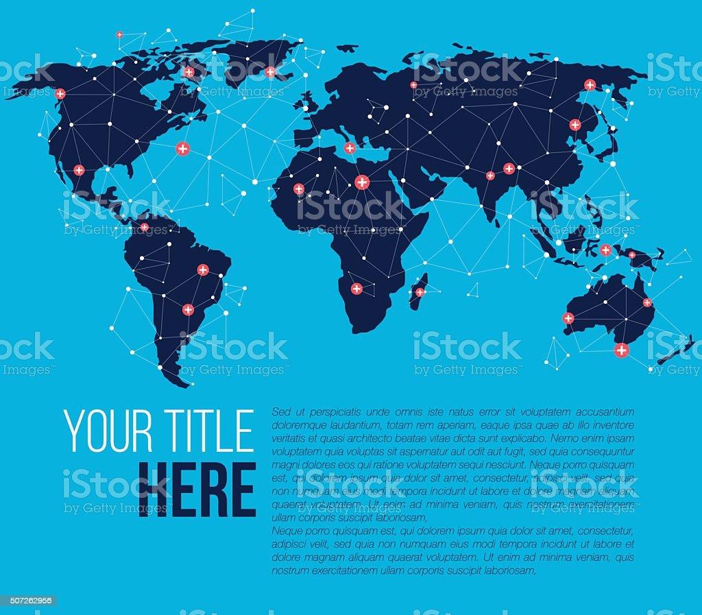 Web design template vector art illustration