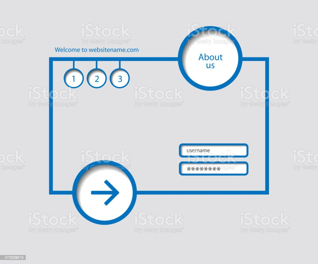 web design, vector minimalism royalty-free stock vector art