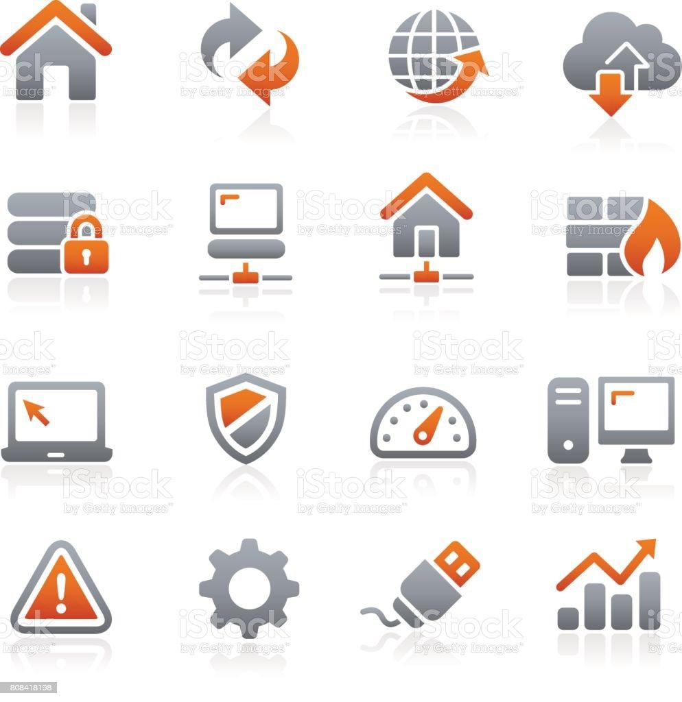 Web Developer Icons // Graphite Series vector art illustration