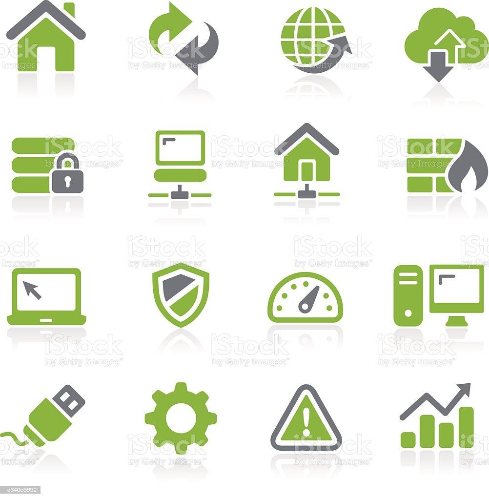 Web Developer Icons // Natura Series vector art illustration