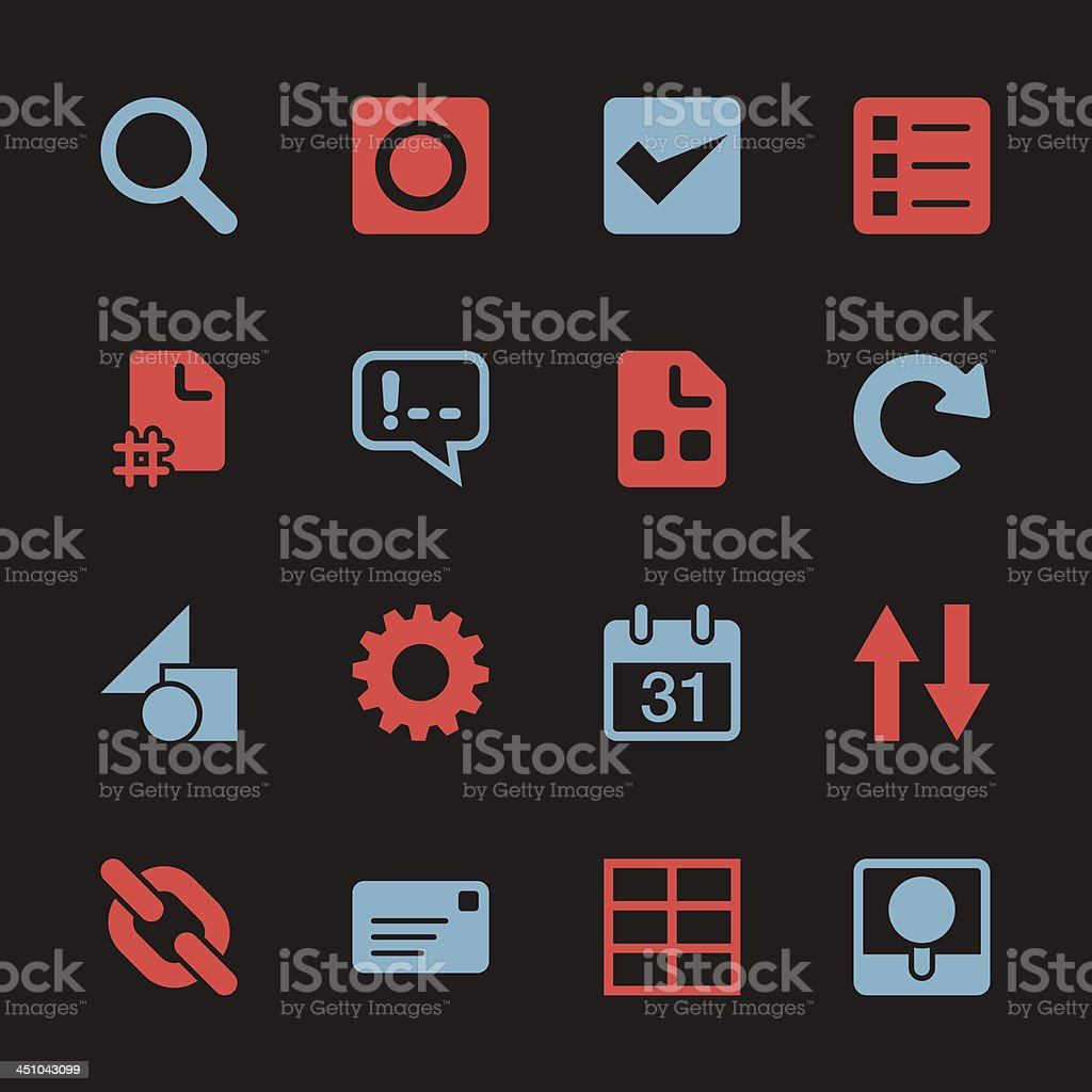 Web Developer Tool Icons - Color Series | EPS10 royalty-free stock vector art