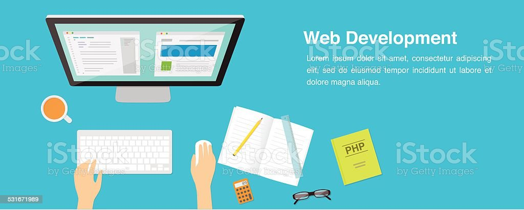 Web Development vector illustration vector art illustration