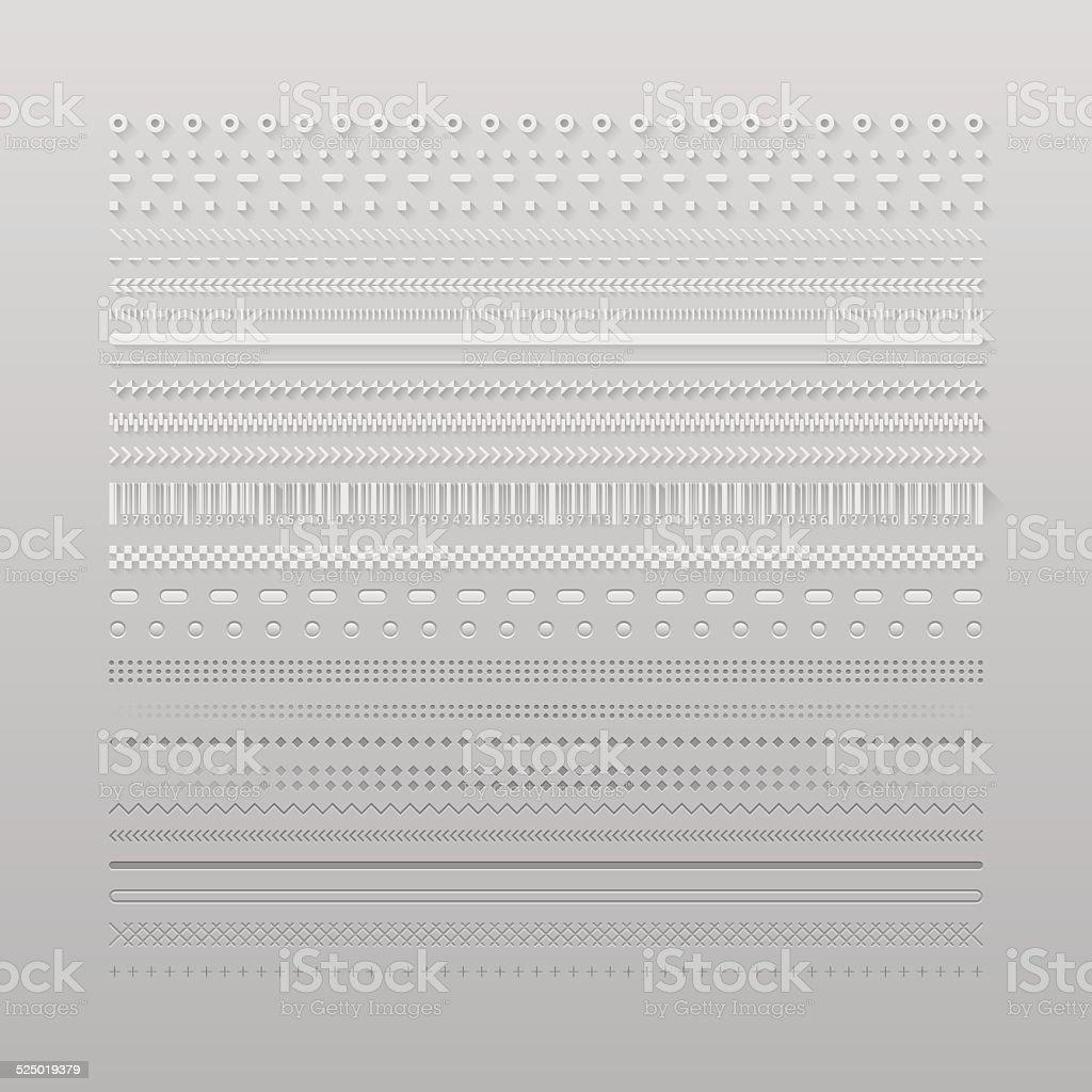 Web dividers vector art illustration
