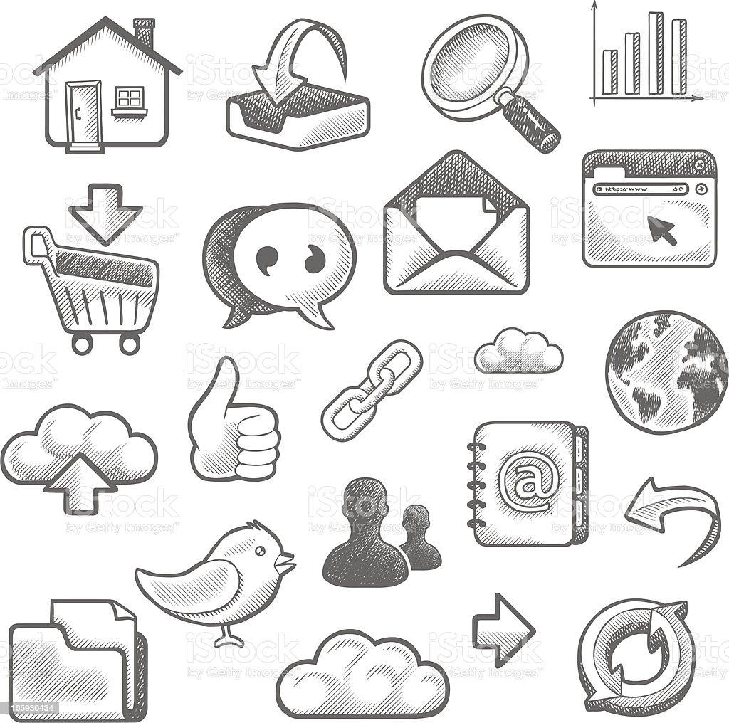 Web doodles royalty-free stock vector art