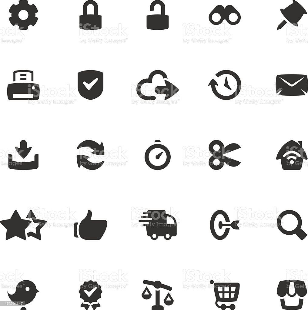 Web & eCommerce Icon Set | Coal Series royalty-free stock vector art