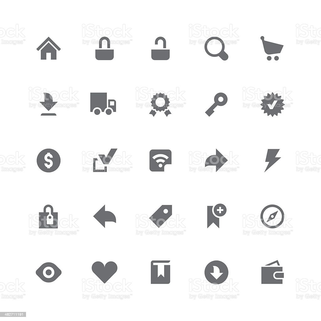Web & eCommerce icons | retina series royalty-free stock vector art