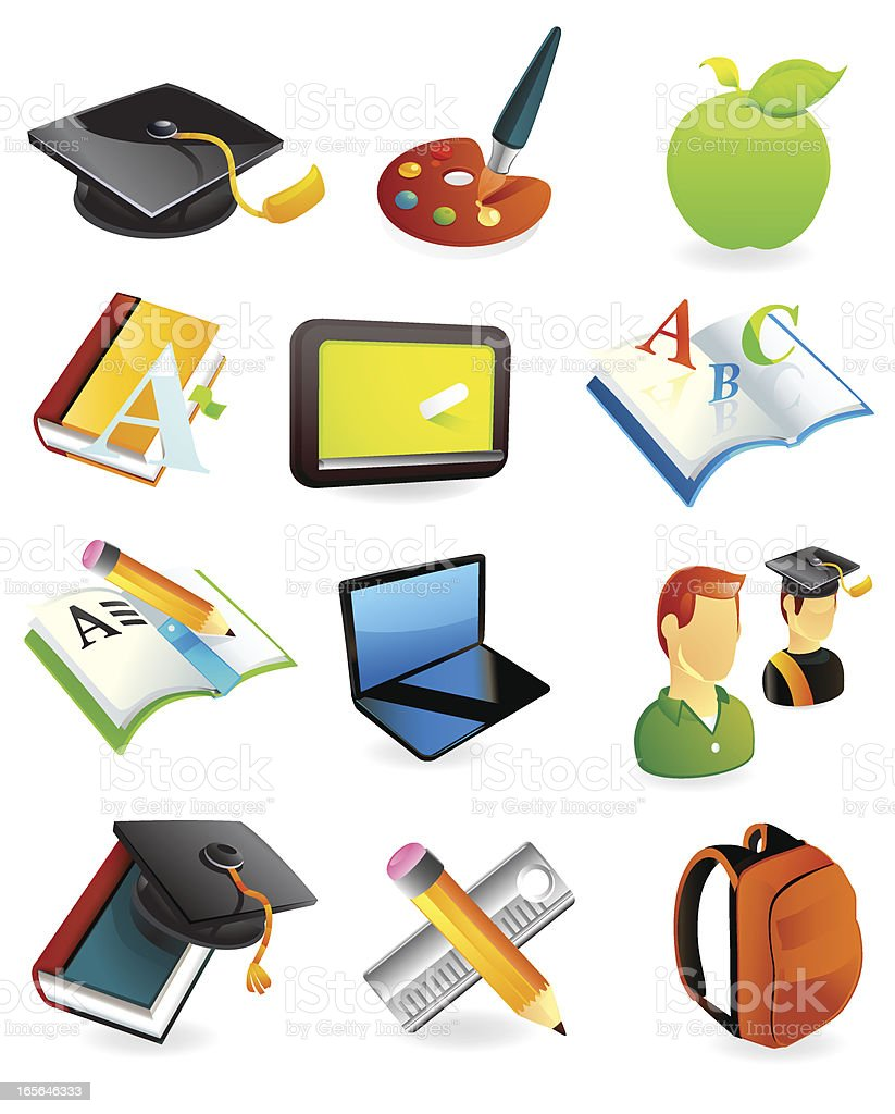 Web Education Icons royalty-free stock vector art