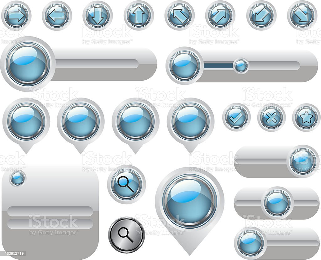 Web elements set buttons royalty-free stock vector art