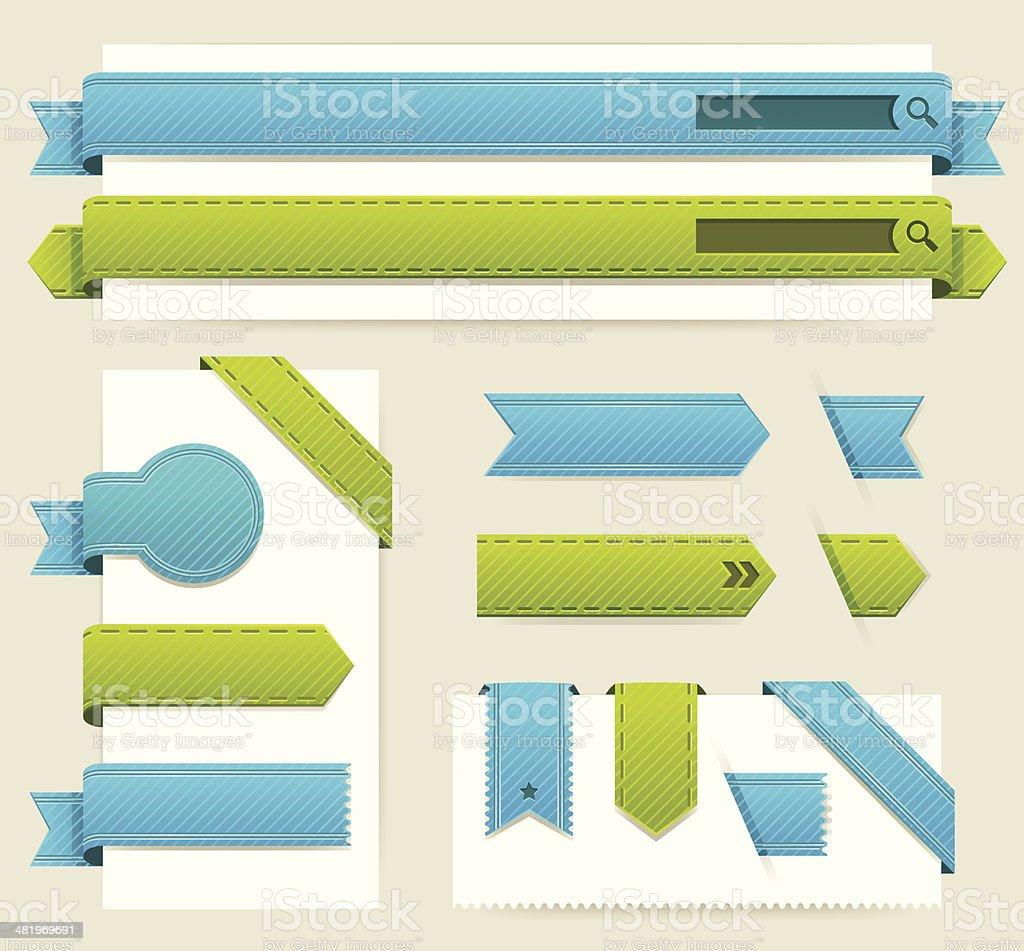 Web Elements vector art illustration