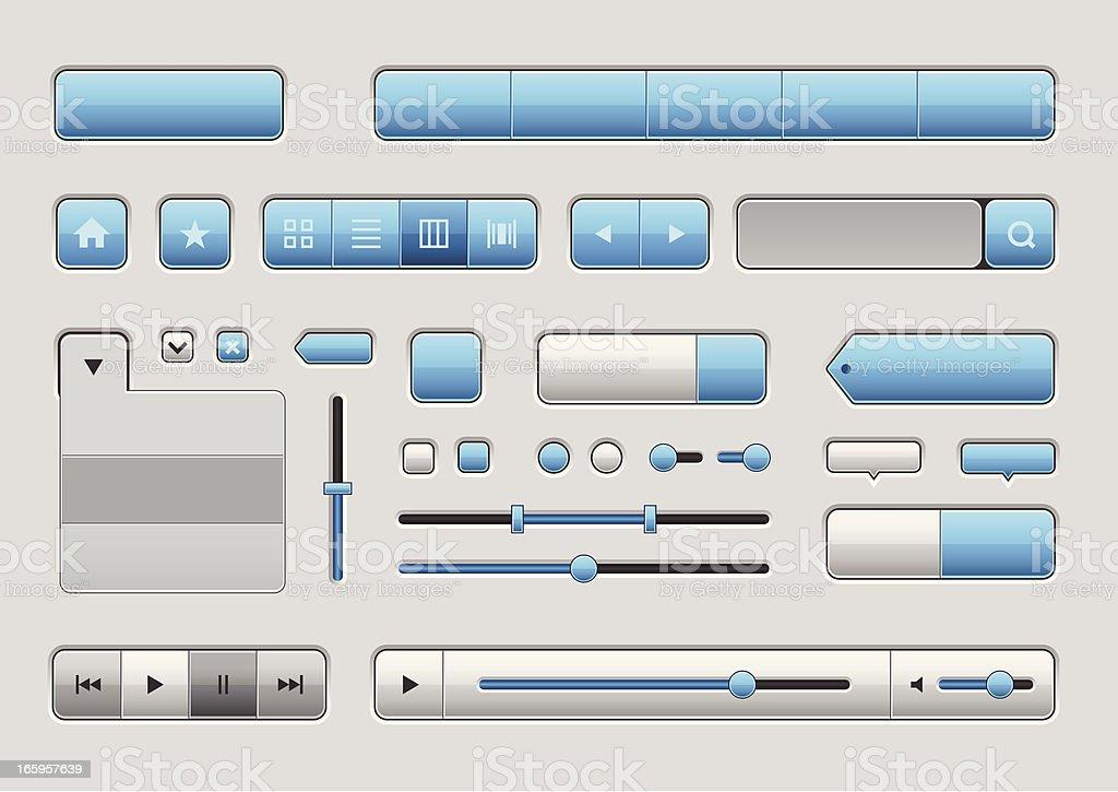 Web elemets collection vector art illustration
