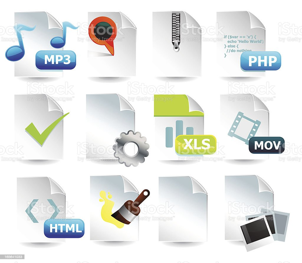 Web File & Document Icons royalty-free stock vector art