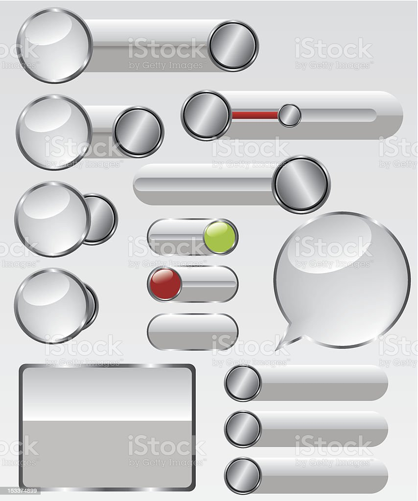 Web glass button illustration royalty-free stock vector art