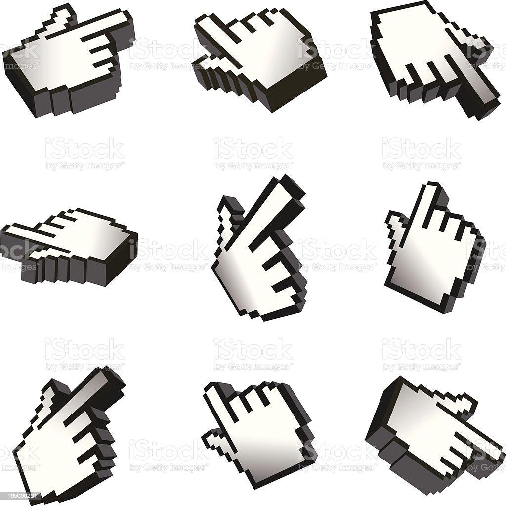 3D Web Hands royalty-free stock vector art