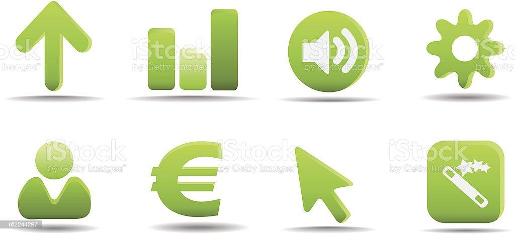 Web icon set 3 | Grass series royalty-free stock vector art