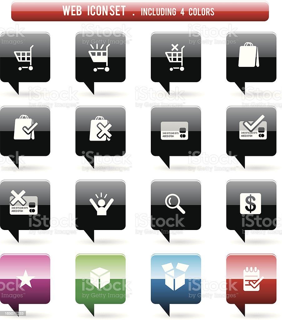 Web icon set 4 royalty-free stock vector art