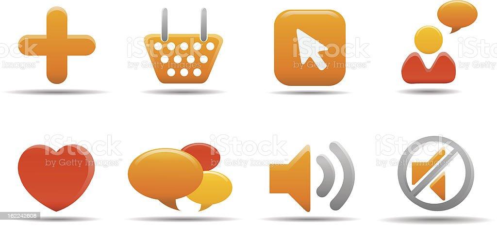 Web icon set 5  | Pumpkin series royalty-free stock vector art