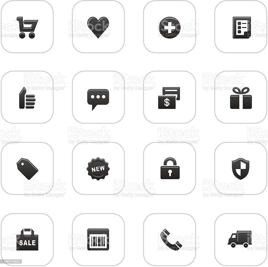 web icon set  _ E - commerce royalty-free stock vector art