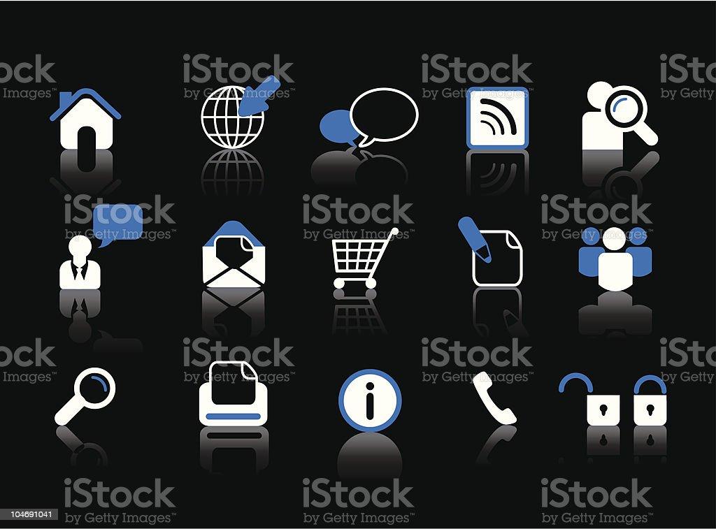 web icon-set Lizenzfreies vektor illustration