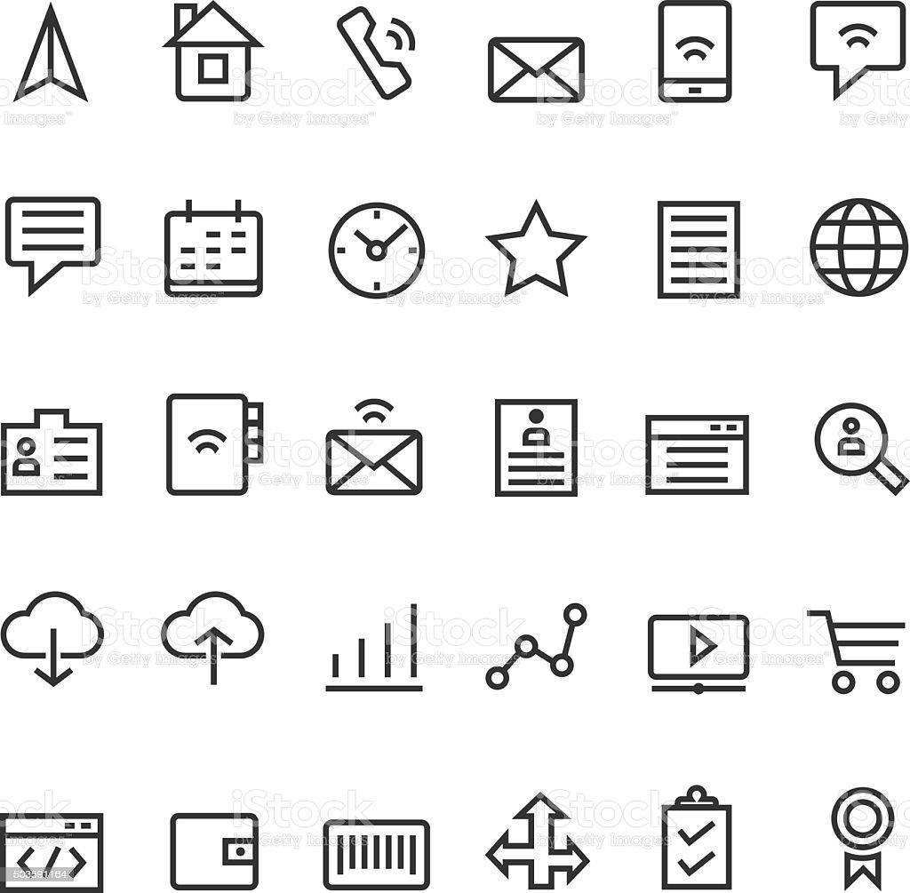 Web icon set vector art illustration