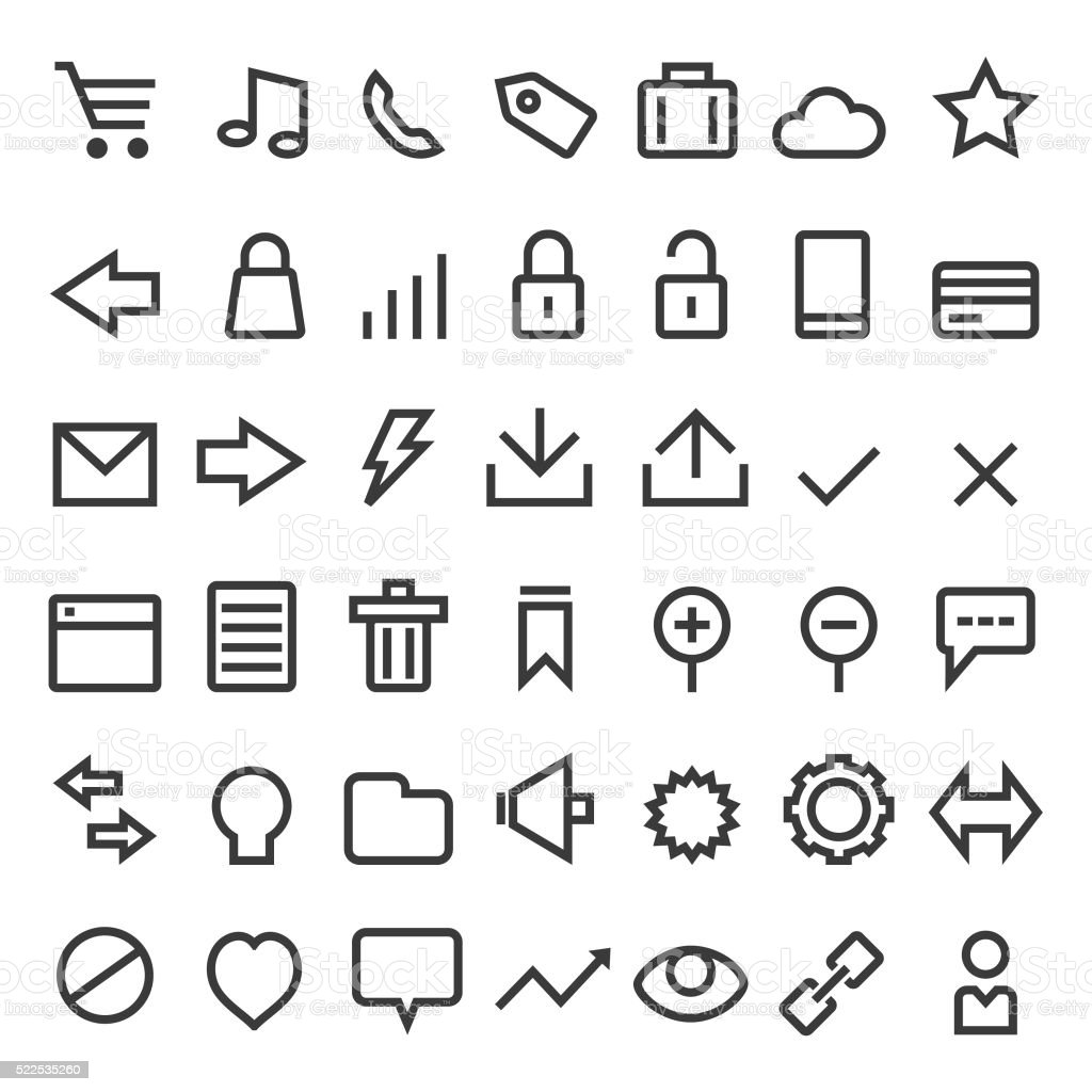 Web icon set vector art illustration
